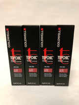 Goldwell Topchic Hair Color - New (Lot Of 4 Tubes) - 4R - $28.04