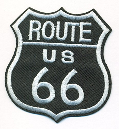 US Route 66 Patch -Size 2 3/4 x 3 inch