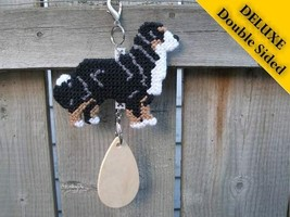 Bernese Mountain Dog Deluxe crate tag 2 sided hang anywhere, show agility kennel - $32.00