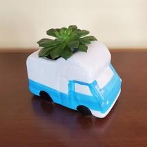 RV Planter with Succulent, Van Life Decor, Vehicle Plant Pot, Sedeveria Letizia