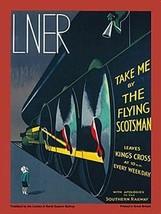 LNER Flying Scotsman. Art Deco Retro Steam Train Fridge Magnet - $3.33