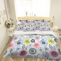3D Colour Paint Petals 2 Bed Pillowcases Quilt Duvet Single Queen King US Summer - $102.84+