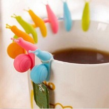 Silicone Tea Bag Holder Cup Mug Cute Hangers Tumblers Snail Shape Hangin... - £1.13 GBP