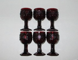 Avon Cape Cod Ruby Red Wine Goblets Glasses with Boxes & Bayberry Candle... - $28.00