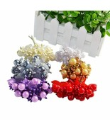 10pcs/set Artificial Flower Pearl Berries Small Berry Core Garden Home P... - $3.59