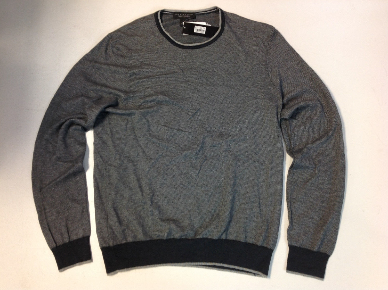 The Men's Store at Bloomingdale's Cotton Birdseye Tonal Trim Sweater, S , $118