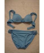 BECCA SWIM Hamptons Molded Underwire Bikini Top & Bottom (Blue) Size (M) - $38.39