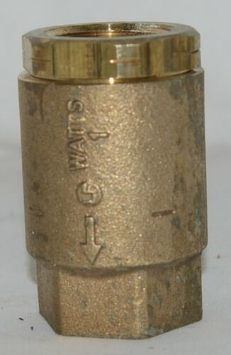 Watts Threaded LF600 Spring Check Valve NPT One Inch Brass 0555177