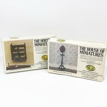 Lot of 2 House Of Miniatures Kits Chippendale Fire Screen Hanging Shelf ... - $19.99