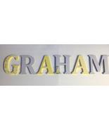 Wood Letters-Nursery Decor- Yellow & Grey Giraffe theme- Price Per Lette... - $12.50