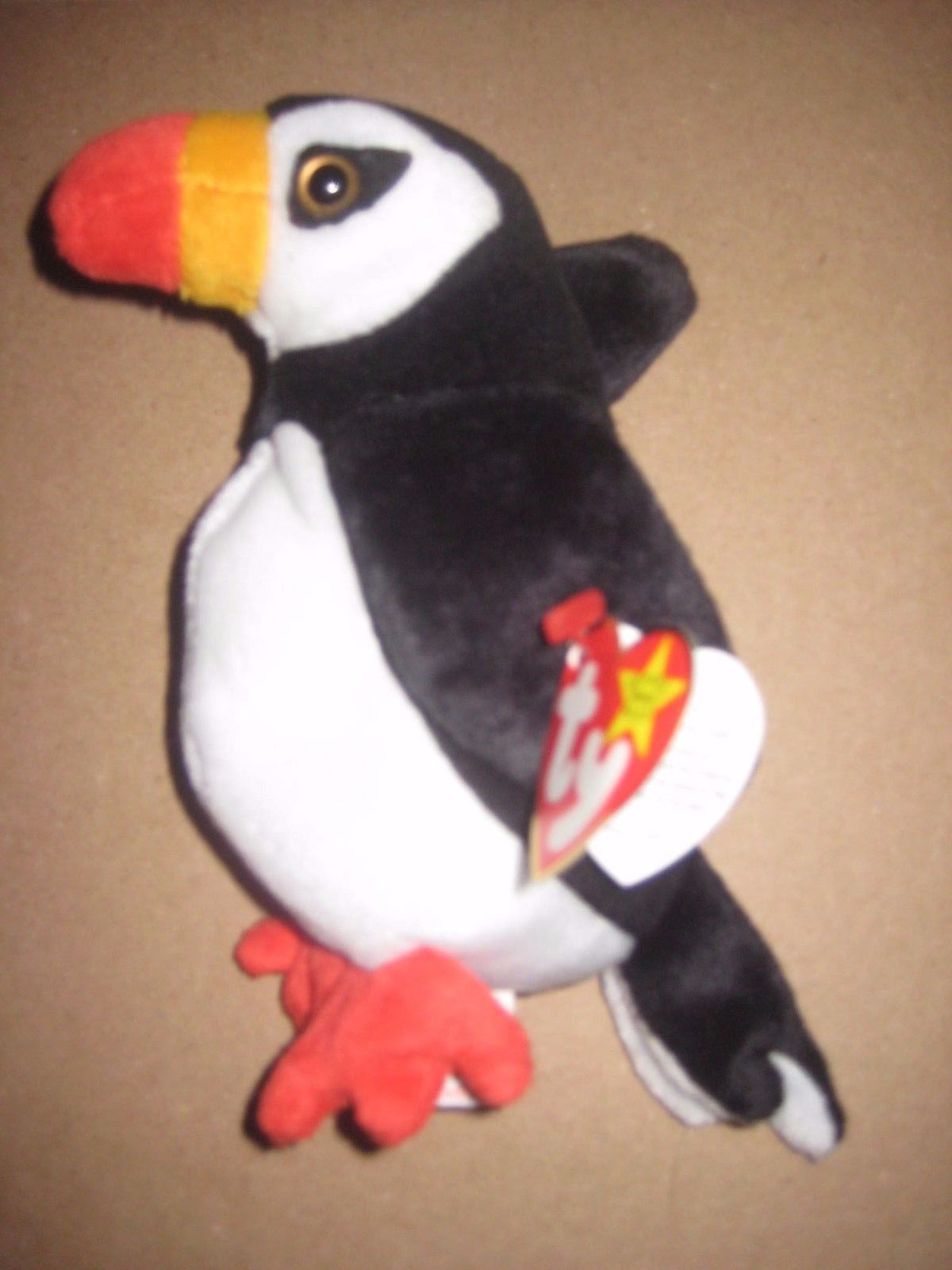S l1600. S l1600. Retired 1997 TY BEANIE BABIES Plush Black 7inch PUFFER  The PUFFIN Bird BRAND NEW ... 717bdb411126