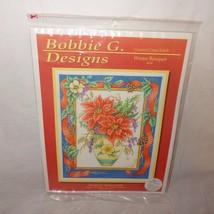Winter Bouquet Christmas Cross Stitch Kit Bobbie G. Designs 104 Poinsettia New - $23.56
