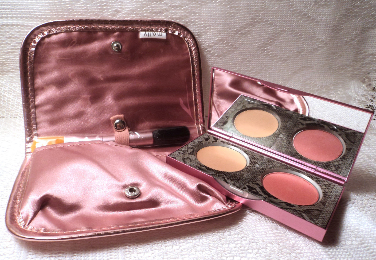 Mally 24/7 Illuminating Blush With Double Sided Brush & Pouch - Deep   - $12.86