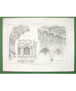 ENGLAND Clearstory Suffolk Norwich Cathedrals - Antique Print - $6.75