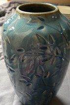 Hosley Mfg Beautiful Tall Blue Elegant Expressions Vase Made in China - $24.74
