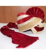 ROYAL-WEDDING-SAFA-INDIA-GROOM-HANDMADE-MEN-PAGRI-PARTY-LARGE-HAT-SF-2377 - $52.47
