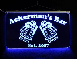 Personalized Bar Pub Sign, Gift for Dad,  Multi-Color Changing, Custom L... - $140.58