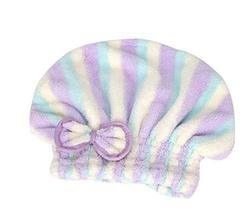 Stripe Hair Drying Towels/Shower Caps Microfiber Hair Towel Wipe Hair Cap