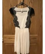 Women's Daytrip Buckle Black Lace Cream Sheer Dress Size Small sleeveless - $15.19
