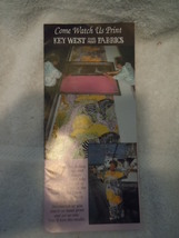 Key West Hand Print Fabrics Key West Florida Travel Brochure  - $4.99