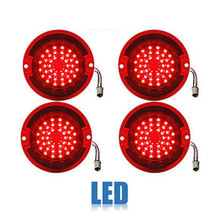 63 Chevy Impala Bel Air Biscayne Red LED Rear Tail Brake Light Lens Set ... - $139.95