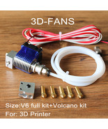 Long-distance 3D Printer V6 J-head Hotend with 3010 fan for 1.75/3.0mm B... - $24.50