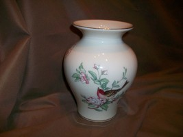 "Lenox China Serenade Pattern Medium 6"" Tall Vase Birds Cherry Blossoms - $17.81"