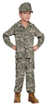 Soldier Military Hero Camo Army Troop Boy Fancy Dress Up Halloween Child Costume - $38.53