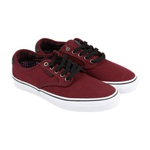 Vans Chima Ferguson Pro Plaid Port Mens 7.5 Burgundy Canvas Lace Up Sneakers - $54.95
