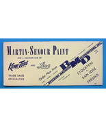 INK BLOTTER 1940s - Martin Senour Paints Lin-x Kem-Tone Stockton California - $4.49