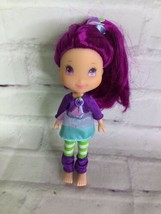Hasbro Strawberry Shortcake Plum Girl Doll Mini Small With Outfit 2008 - $19.79