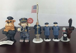 Vintage Lot Of 5 Police Officer And Ornaments - $14.03