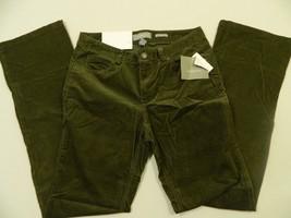 M93 NWT $69 Liz Claiborne Sloane Casual Stretch Slim Corduroys Pants WOM... - $24.70