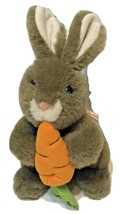 VTG 1991 Fairview Brown Bunny Rabbit with Carrot Stuffed Animal Plush Toy - $17.58