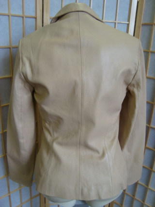Jacket in Leather  Beige For Women Size: Large