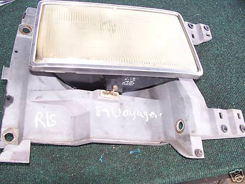 1987-1990 Plymouth Voyager Rightside Head Light