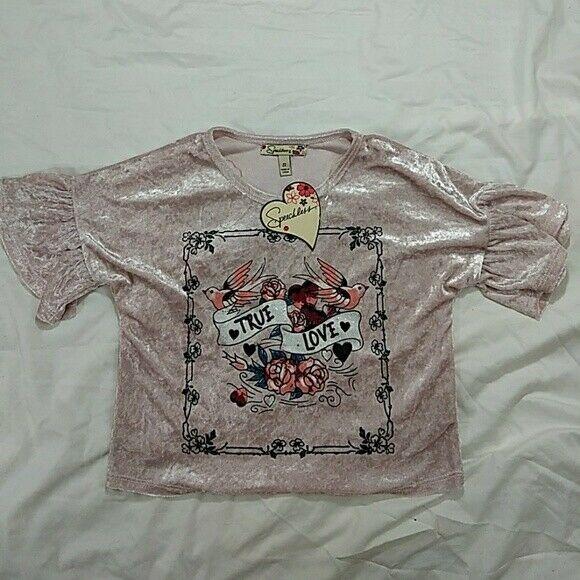 Speeckless True Love Girls Shirt, Size Small, New