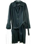 VTG Ralph Lauren trench jacket rain coat Black single button belted men'... - $148.50