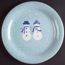 Home Handpainted Christmas Snow People Collectible Dinner Plate  10 3/4 - $12.99