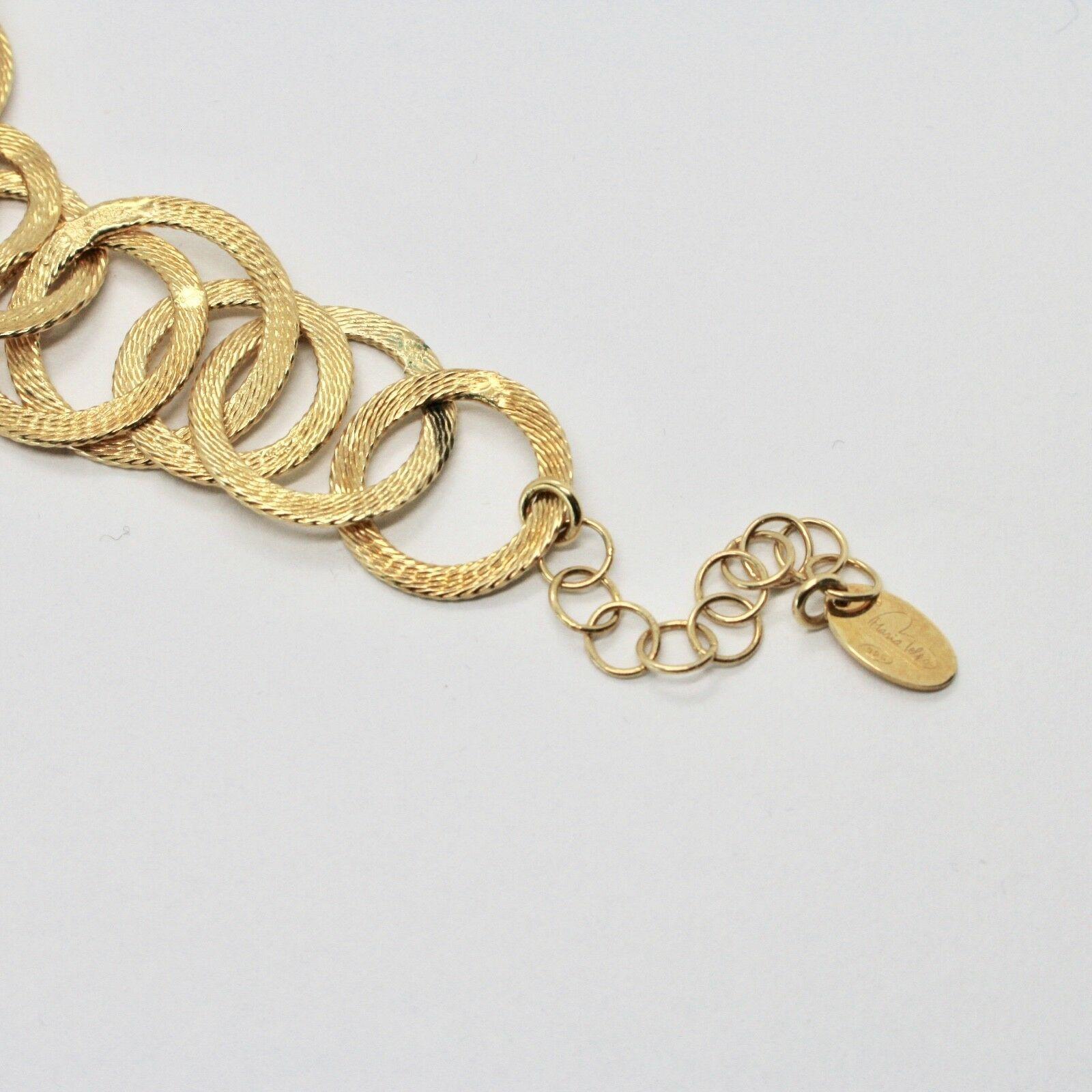 Silber Armband 925 Folie Gold Kreise Mattiert By Maria Ielpo Made in Italy
