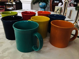 Mixed Lot of 8 Fiesta cofee mugs manufacturing flaws Like new mint  - $135.00