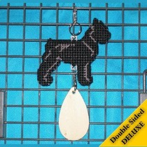 Giant Schnauzer Deluxe crate tag 2 sided, hang anywhere show dog agility... - $29.00