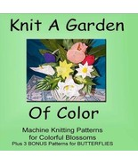 Knit A Garden Of Color - Machine Knit ePatterns Digital Download  - $3.00