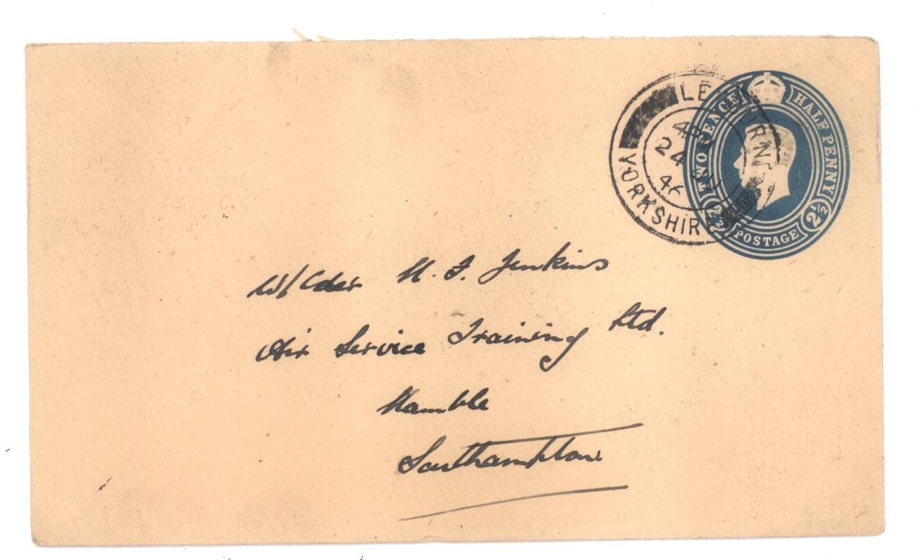 English stamped envelope