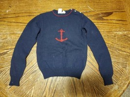 Vintage JG Hook Navy Blue Anchor Sweater Womens Small (cb1) - $23.38