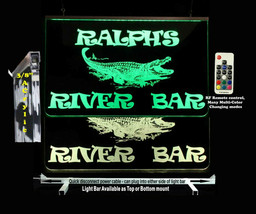 Personalized LED Alligator Crocodile Man Cave Sign- Garage Sign, Bar sign, - $94.05+
