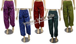10 Cotton Casual Hand Block Print Trousers Pants Lounge Wear Boho Gypsy ... - $69.99