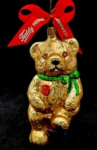 Hermann Teddy Glass Ornament Numbered Walt Disney Attractions Tag - $39.95