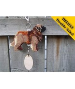 Leonberger Deluxe crate tag double sided, hang ... - $29.00