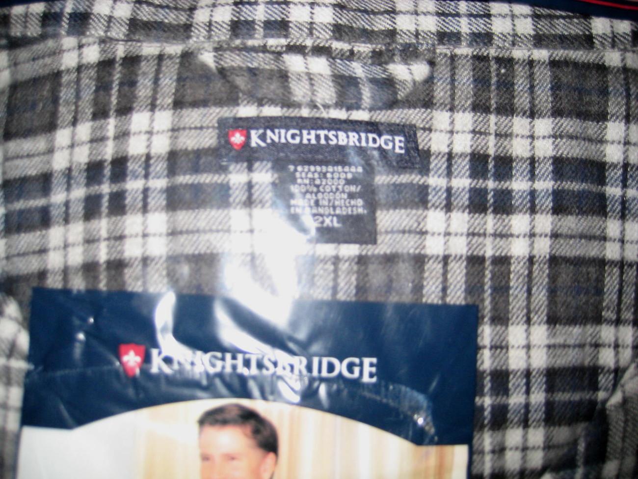 New Men's Knightbridge Yarn Dyed Flannel Pajammas Long Sleeve/ Long Leg XXLarge